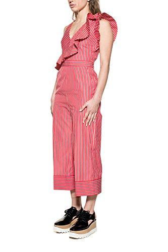 Msgm Femme 2242MDA15117430418 Blanc/Rouge Coton Combinaison