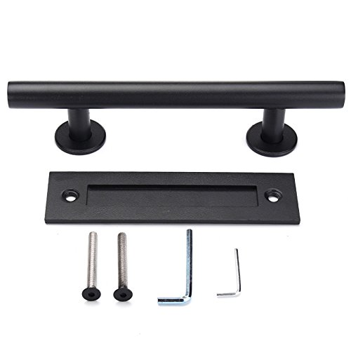 Wchaoen Black Barn Door Modern Handle Pull Knobs for Sliding Door Cabinet Drawer Wardrobe Tool accessories