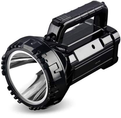 Care 4 LED High Power Searchlight Built-in Rechargeable High Brightness Flashlight (Black)