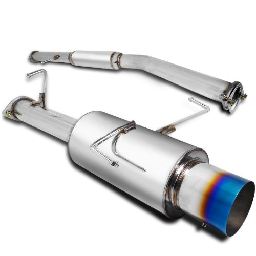 Spec-D Tuning MFCAT2-ACD982T-SD Honda Accord 4Cyl Titanium Burnt Tip Catback Exhaust Muffler