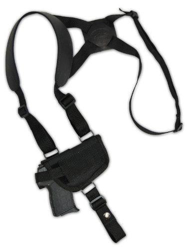 Barsony Cross Harness Shoulder Holster for Small 380 Ultra-Compact 9mm 40 45 by Barsony Holsters and Belts