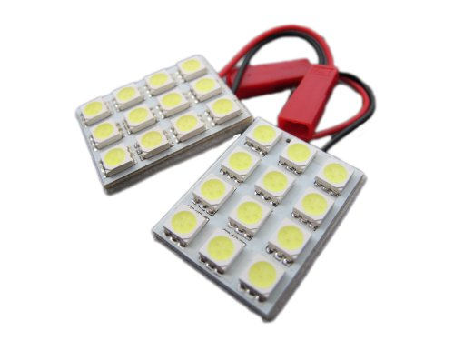 Elite Mailers Universal 12 SMD LED Panel Light Kit Map Dome Interior Light - Blue - 2 pieces