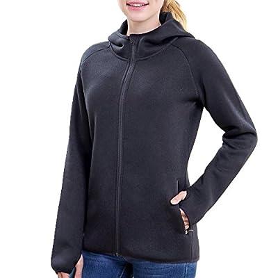 BELE ROY Women Warm Fleece Winter Jacket Active Outdoor Full-Zip Coat Fleece Lined