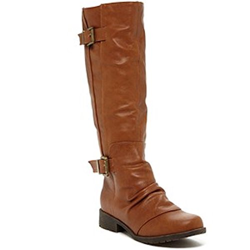 Women's Brown Scrunched Boot Elegant Footwear Riding Calcia Fwqv8REgU