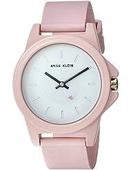 Anne Klein Womens AK/3206WTPK Pink Silicone Strap Watch