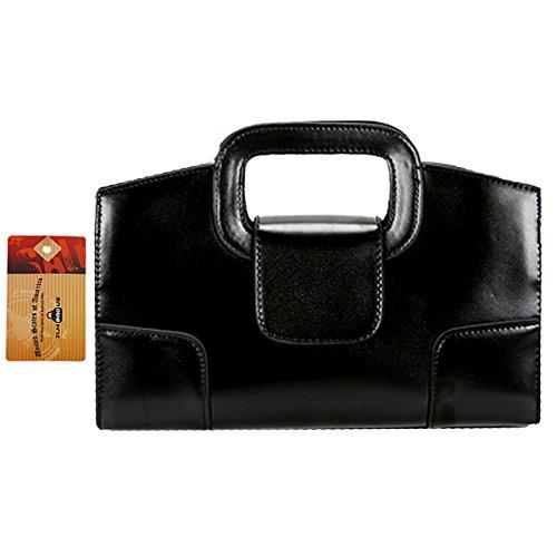- ZLM BAG US Women Vintage Flap Tote Top Handle Satchel Handbags PU Leather Clutch Purse Casual Messenger Chain Shoulder Crossbody Bag Black