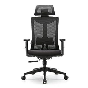Amazon Brand – Umi.Chaise de Bureau Ergonomique-Fauteuil de Bureau avec Soutien au Niveau des Lombaires et Accoudoirs en…