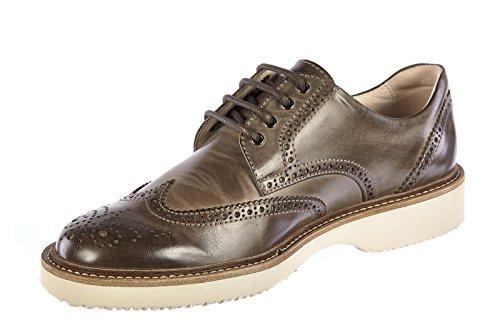 Hogan scarpe classiche uomo in pelle nuove derby h217 route grigio