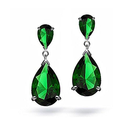 Simulated-Emerald-CZ-Oval-Teardrop-Green-Crystal-Dangle-Chandelier-Earrings
