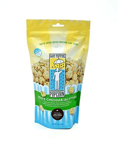 - Gourmet Handcrafted Flavored Popcorn, White Cheddar Jalapeño, 4oz (Gourmet Jalapeno)