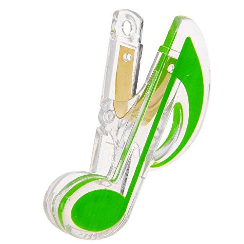 Kmise Z2862 音楽ブック プラスチック ラブリースタイル ピアノ ノートクリップ デラックス グリーン   B00YU3AD00