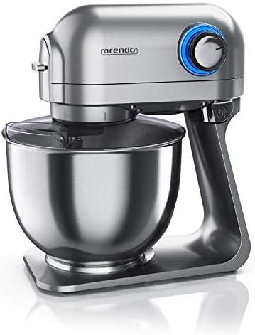 Arendo leistungsstarke Küchenmaschine 5l – Edelstahl Rührmaschine Knetmaschine Robot da Cucina Universale, Acciaio Inox