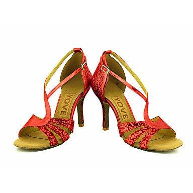 Tacón Negro Oro baile Personalizado Red Rojo Salsa Plata Latino de Personalizables Zapatos EBq1zz