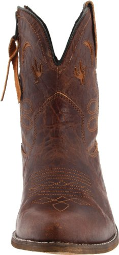 Dingo Women's Distresssed Leather Light Rose Boots Adobe Brown HHdWqzr