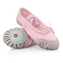 Ifans Classic Canvas Ballet Slipper Shoes Split-Sole Dance Flat for Kids/Child/Teenager