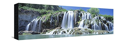 Idaho, Bonneville County, Tributary Waterfall on the Snake River Stretched Canvas Print by Panoramic Images - 24 x 8 in