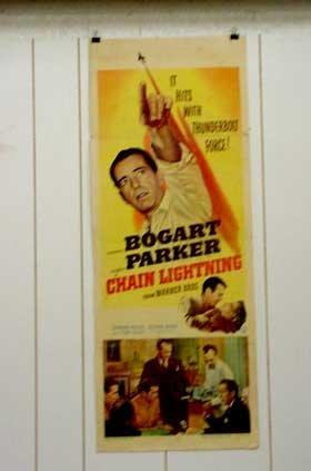 Chain Lightning Poster - CHAIN LIGHTNING-1949-INSERT POSTER-HUMPHREY BOGART-RARE VG-