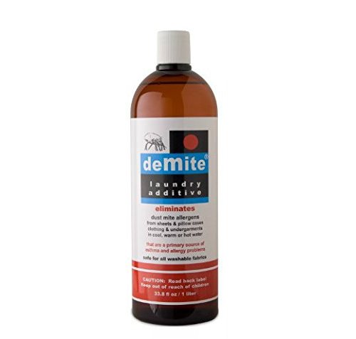 DeMite Laundry Additive (1 Liter) Allergen Eliminator with Bonus Expert Pro Tips to Eliminate Dust Mite Allergens