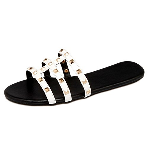 Comty Punta Sandalias Abierta Mujer Coolcept White pzZqgwn