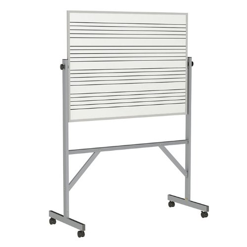 Ghent Reversible Porcelain Magnetic Whiteboard w/2 Sides Music Staff, 53-1/4