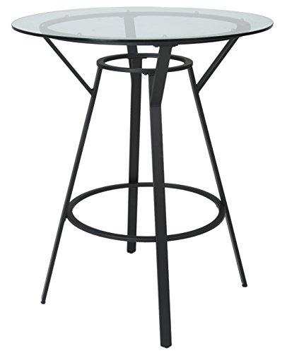 Impacterra QLLL520043618 La Lonja Bar Table, 40'', Satin Black by Impacterra