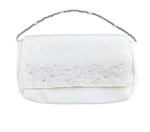 Sacred Traditions First Communion Clutch Purse with Bead Embellishments ()