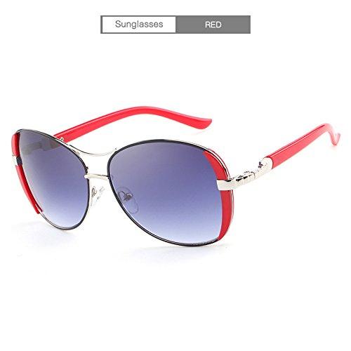 la para la Rojo Estilo de la de Gafas púrpura Elegantes Red Manera Adultas Color estrenar de Marca de de del Lujo Hembra Blanco Sol MXNET Gafas a Sol q4PWwUxSBn