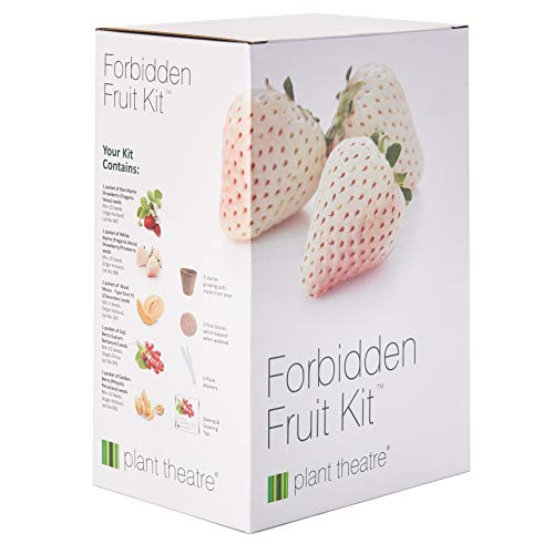 Plant Theatre Forbidden Fruit Kit Gift Box - 5 Delectable Fruits to Grow - Everything You Need to Start Growing in one Box! - Great Grow Kit Gift ()