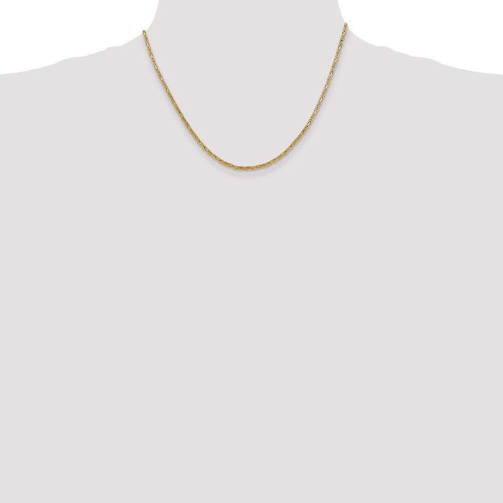 14K Yellow Gold 2mm Byzantine Chain by Jewels By Lux (Image #2)