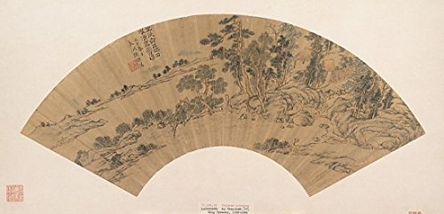 "Landscape with Figure Poster Print by Chen Guan (Chinese active ca 1610 ""40) (18 x 24)"