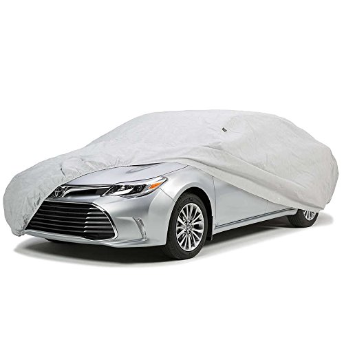 up to 160 Inches ALEKO CCF031 Easy Fit Weather Resistant Car Cover in Silver Coated Polyester