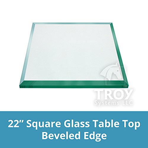 TroySys Square 1/2 Inch Thick Beveled Polished Annealed G...