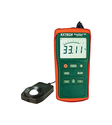 Extech EA30-NIST Easy View Wide Range Light Meter with NIST by Extech