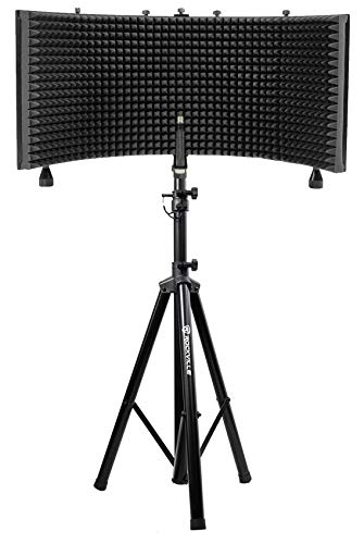 Photo Rockville Recording Studio Microphone Isolation Shield + Heavy Duty Tripod Stand