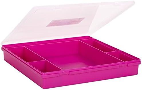 Wham 23357 Sortierbox 6-F/ächer PINK ca.38x39x6cm Sortierkasten Sortimentskasten