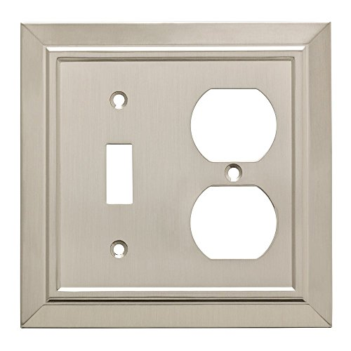(Franklin Brass W35221-SN-C Classic Architecture Switch/Duplex Outlet Wall Plate/Switch Plate/Cover, Satin Nickel)