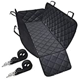 SHINE HAI Dog Car Seat Covers Side Flaps, Nonslip Backing, Waterproof & Scratch Proof Hammock Convertible, Machine Washable Pet Backseat Cover Cars Trucks SUVs