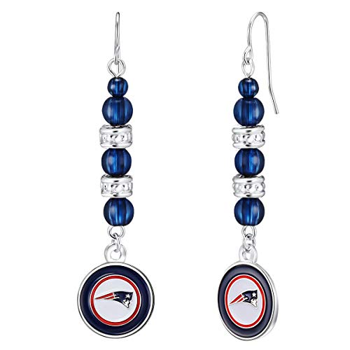 Pro Specialties Group NFL New England Patriots Beaded Dangle Earrings