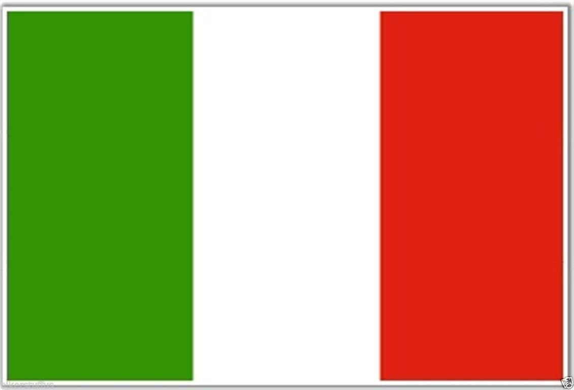 BIKERSTUFFUS Italian Flag Helmet Sticker Laptop Sticker Toolbox Sticker Window Sticker