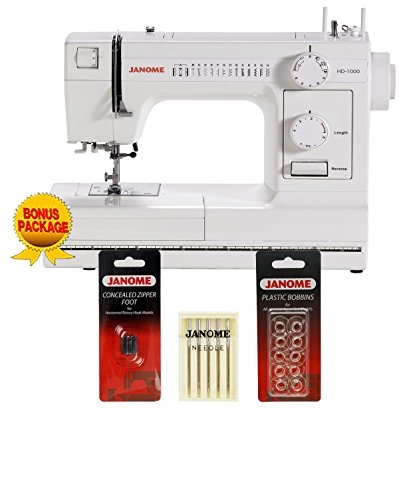 Janome HD1000 Mechanical Sewing Machine with Package