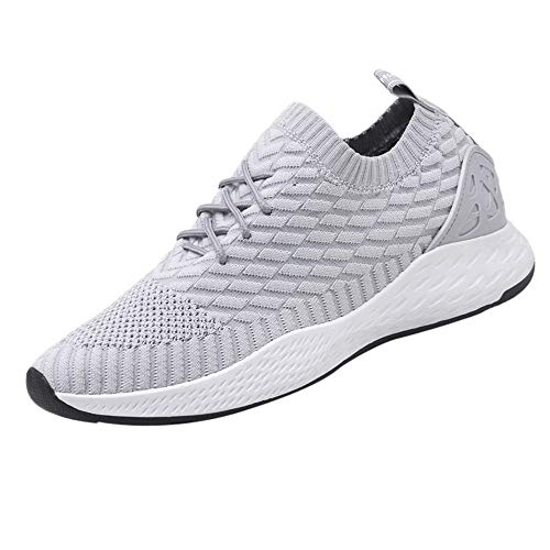 (kaifongfu Men Breathable Sneakers Sport Shoes Lightweight Mesh Shoes (Gray,44))