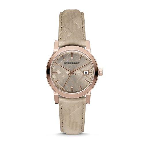 Burberry-Womens-Beige-Leather-Band-Steel-Case-Swiss-Quartz-Bronze-Dial-Analog-Watch-BU9154
