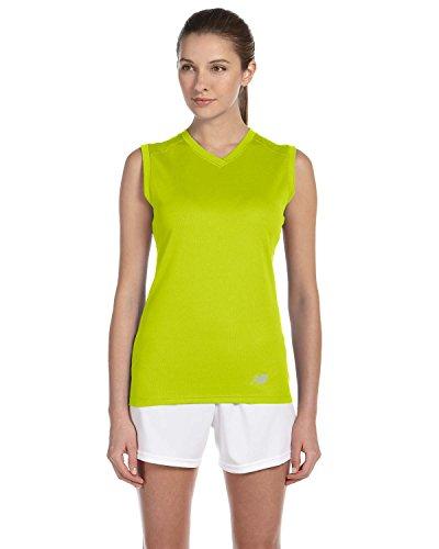 Shirt Workout Safety Neck Green V Ladies Ndurance Grün T Athletic New Balance N7117L 04wqxHz