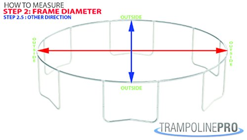 Trampoline Replacement Nets | Sizes 8 ft thru 15 ft | Net Only | Poles and Top Ring Not Included (15 Foot Net, 15' | Fits 3 Arch | Sleeves) by Trampoline Pro (Image #2)