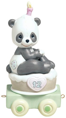 Precious Moments Birthday Train Give A Grin And Let The Fun Begin Figurine by Precious Moments