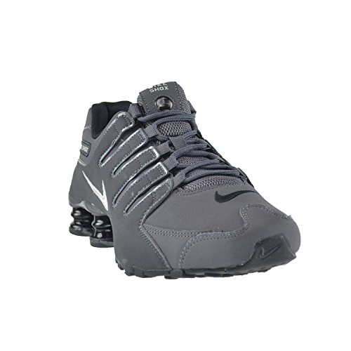 Nike Shox NZ Herren Basketball Schuhe Dunkelgrau-Metallic Eisen ORE Anthrazit Blau 378341-059