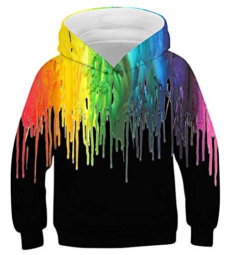 a os Sudadera D 3d Aideaone con 2 capucha 16 Sudadera Girl 6 de Rainbow Boy wrqvU1Pw