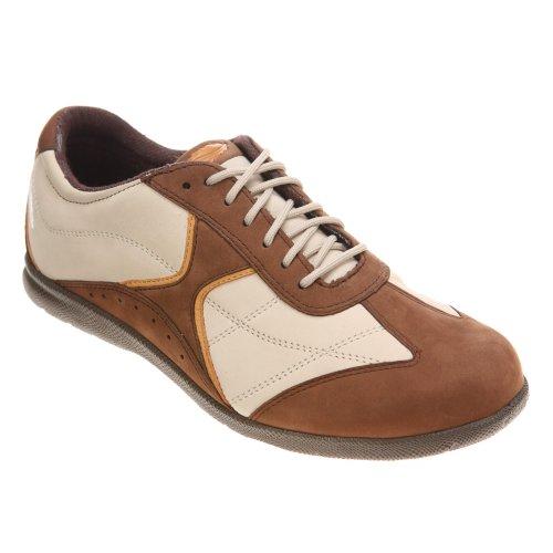 Trok Schoen Dames Elite Sneaker Bruin Nubuck / Sport Wit