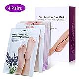 Foot Peeling Mask, Vitamin E Moisturizing Foot Peel Mask Socks Set Soften Remove Dead Skin Hard Skin and Calluses in 1 Week(4 Pairs)