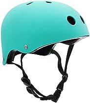 Skateboard Helmet, Kids/Adult Bike Helmet with Removable Liner, Adjustable Straps CPSC Certified for Skateboar